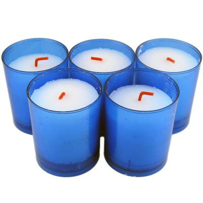 Bougie Veilleuse Votive Bleue - 30h - Lot de 5