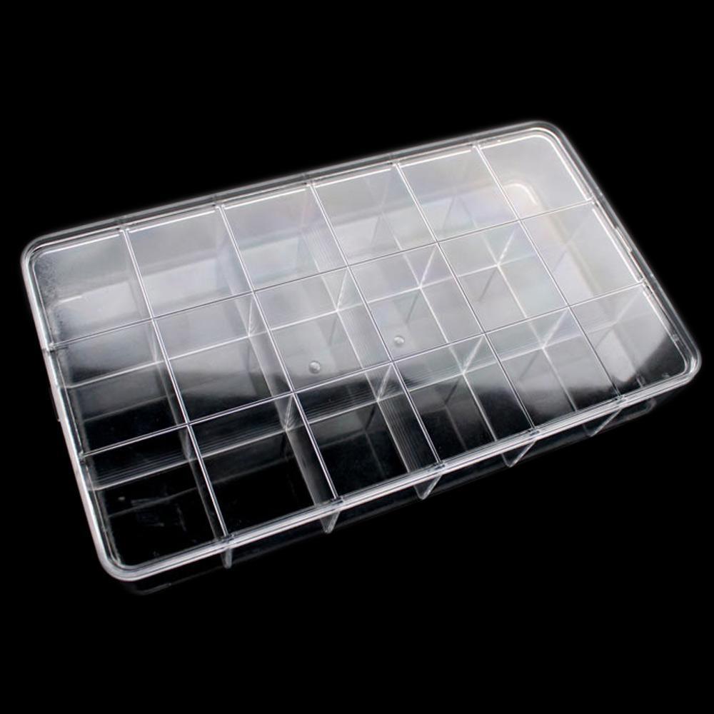 Bo te rangement pierres lithoth rapie plexi 18 compartiments - Boite rangement transparente ...