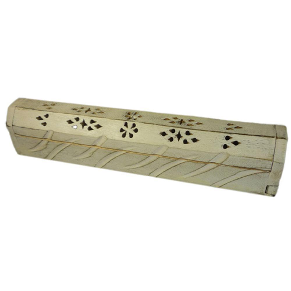 Accessoires encens pas chers porte encens en bois blanc for Porte bois blanc