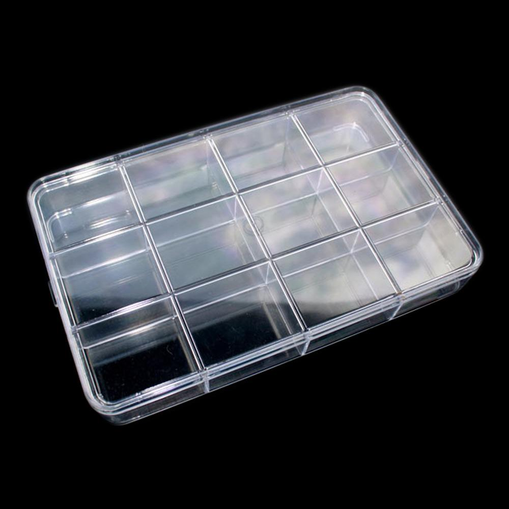 Bo te rangement pierres lithoth rapie plexi 12 compartiments - Boite rangement transparente ...