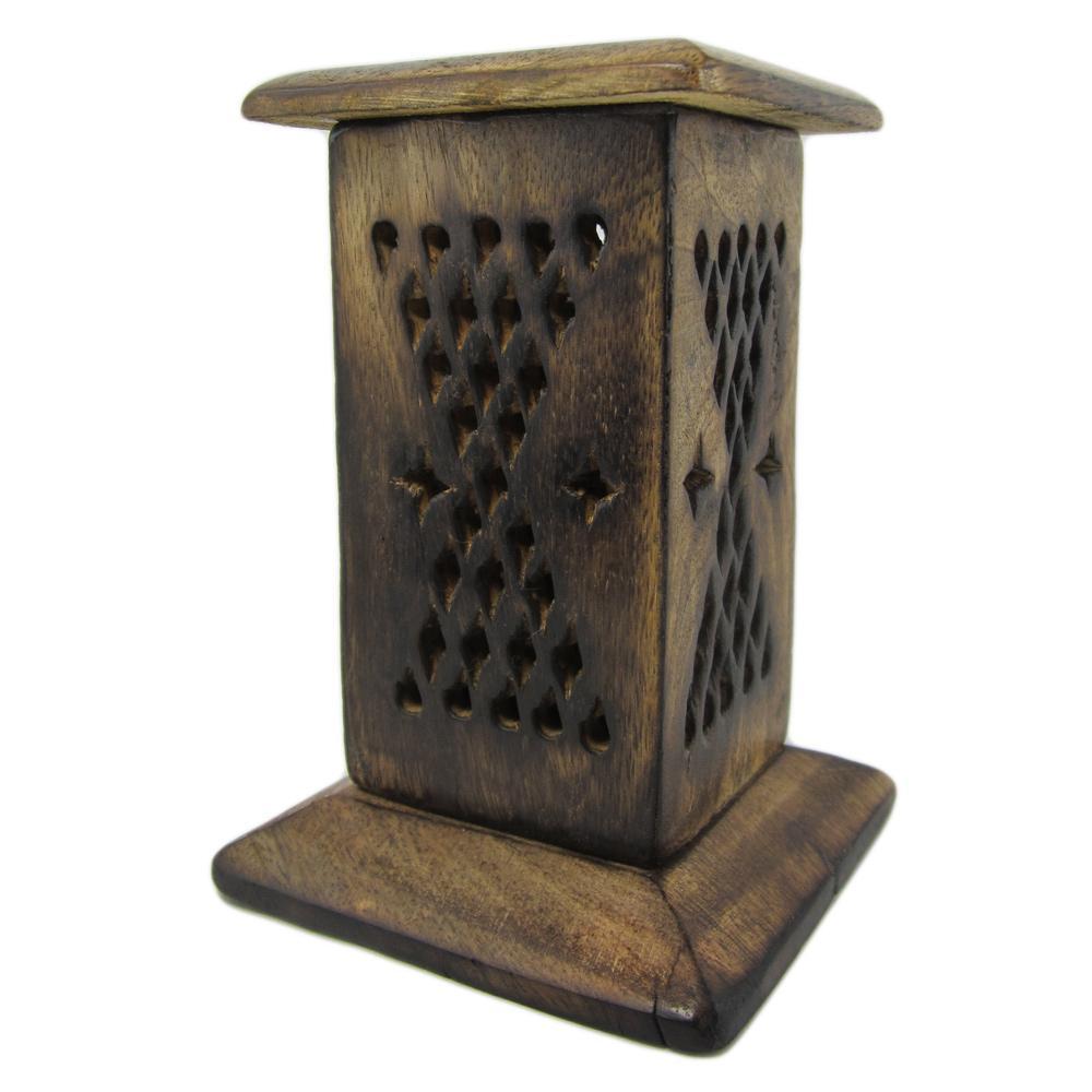 br le encens c nes petite tour porte encens en bois petit mod le. Black Bedroom Furniture Sets. Home Design Ideas
