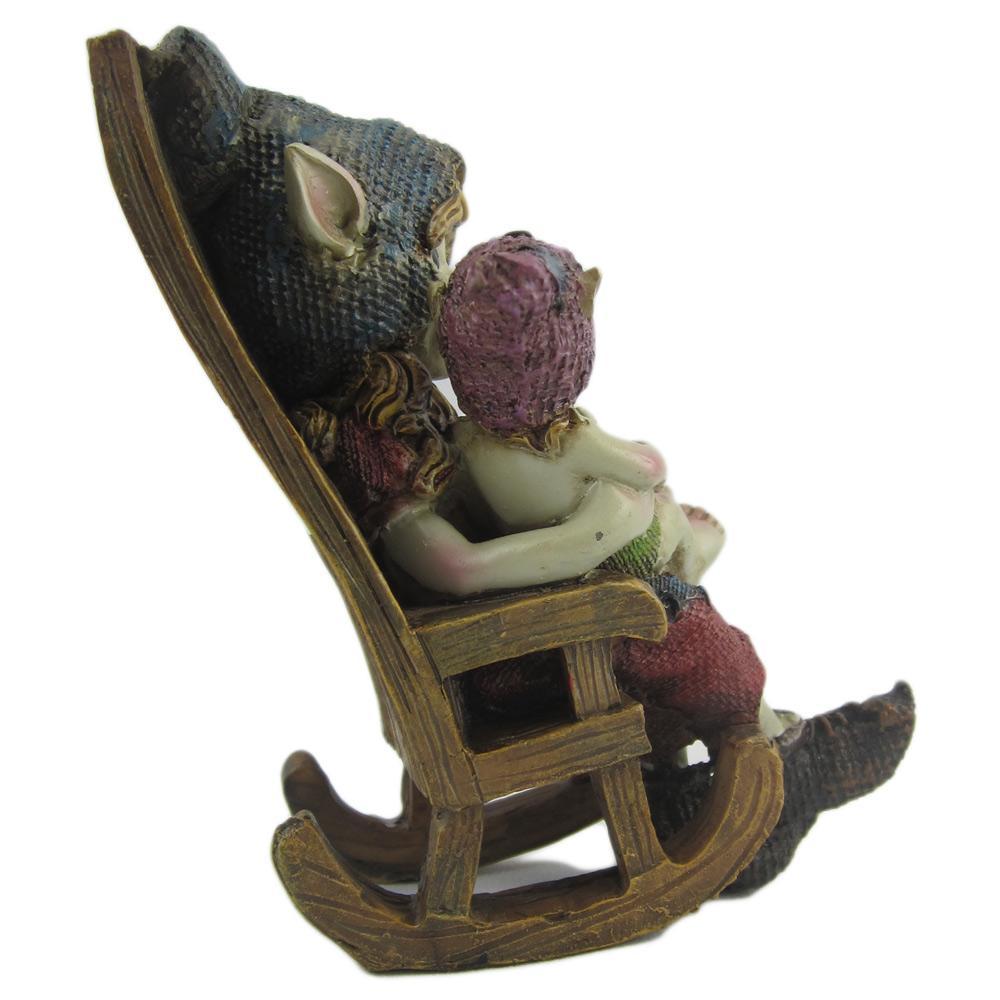 figurine pixies maman b b rocking chair d co pixies. Black Bedroom Furniture Sets. Home Design Ideas