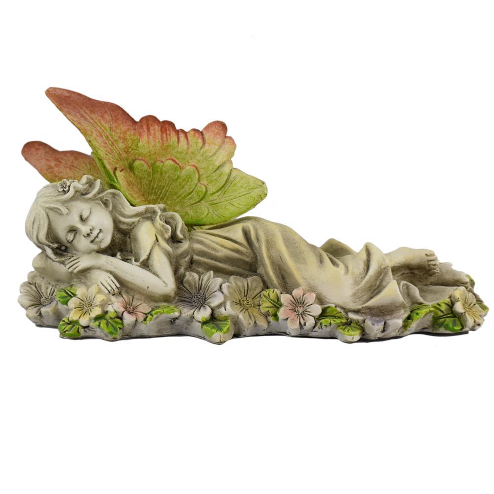 F e de jardin endormie n b figurine choppe de ga a - Jardin de fee ...