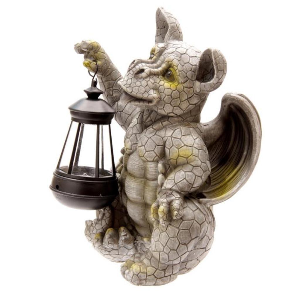 Figurine dragon de jardin escalade Figurine pour jardin