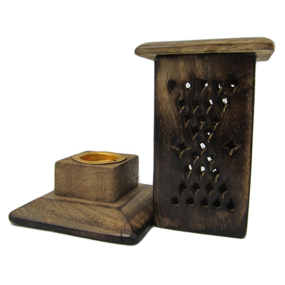br le encens c nes petite tour porte encens en bois. Black Bedroom Furniture Sets. Home Design Ideas