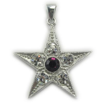 Pendentif Peter Stone Collection Nebula - Amethyst and Crystal Accented Star